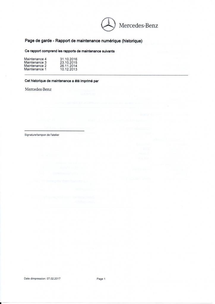ENTRETIEN CLASSE A PAGE 1